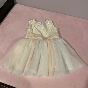 2t tule and velour dress